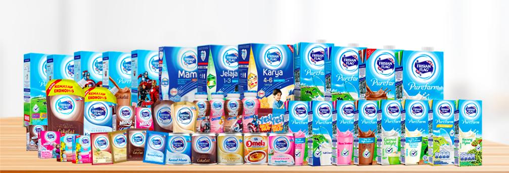 インドネシアで大人気の牛乳ブランド、Frisian Flag